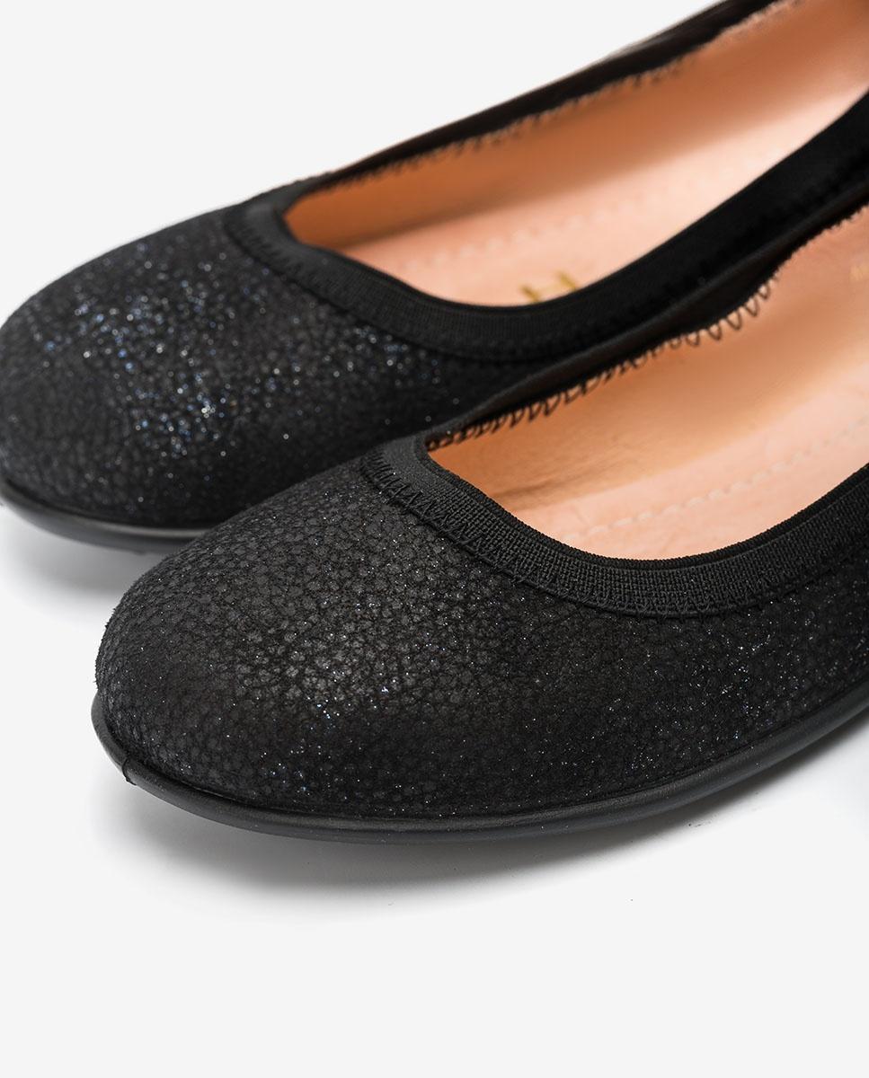 UNISA Little girl´s engraved shiny leather ballerinas SABRINA_F20_VIA black 2