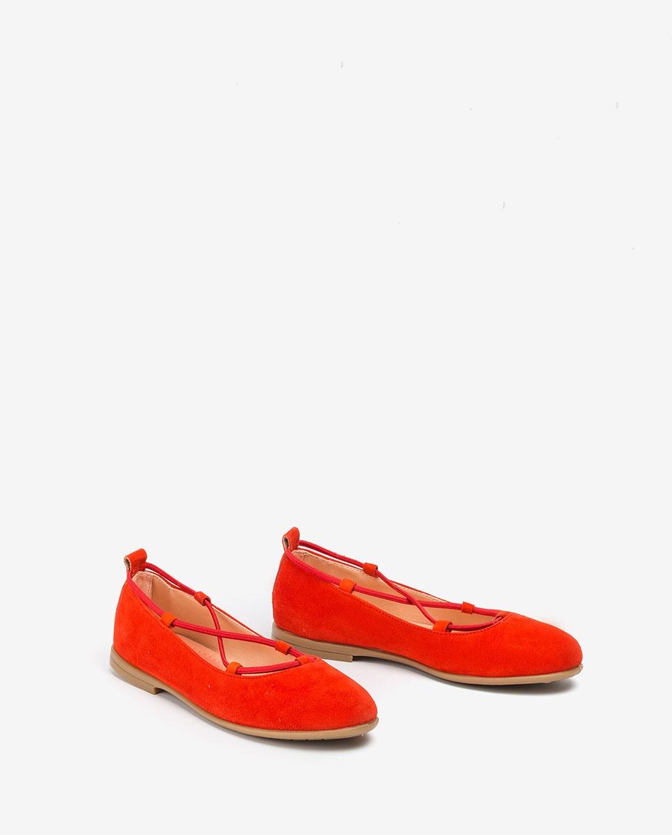 UNISA Coral ballerinas with elastic SEIMY_20_KS corallo 2