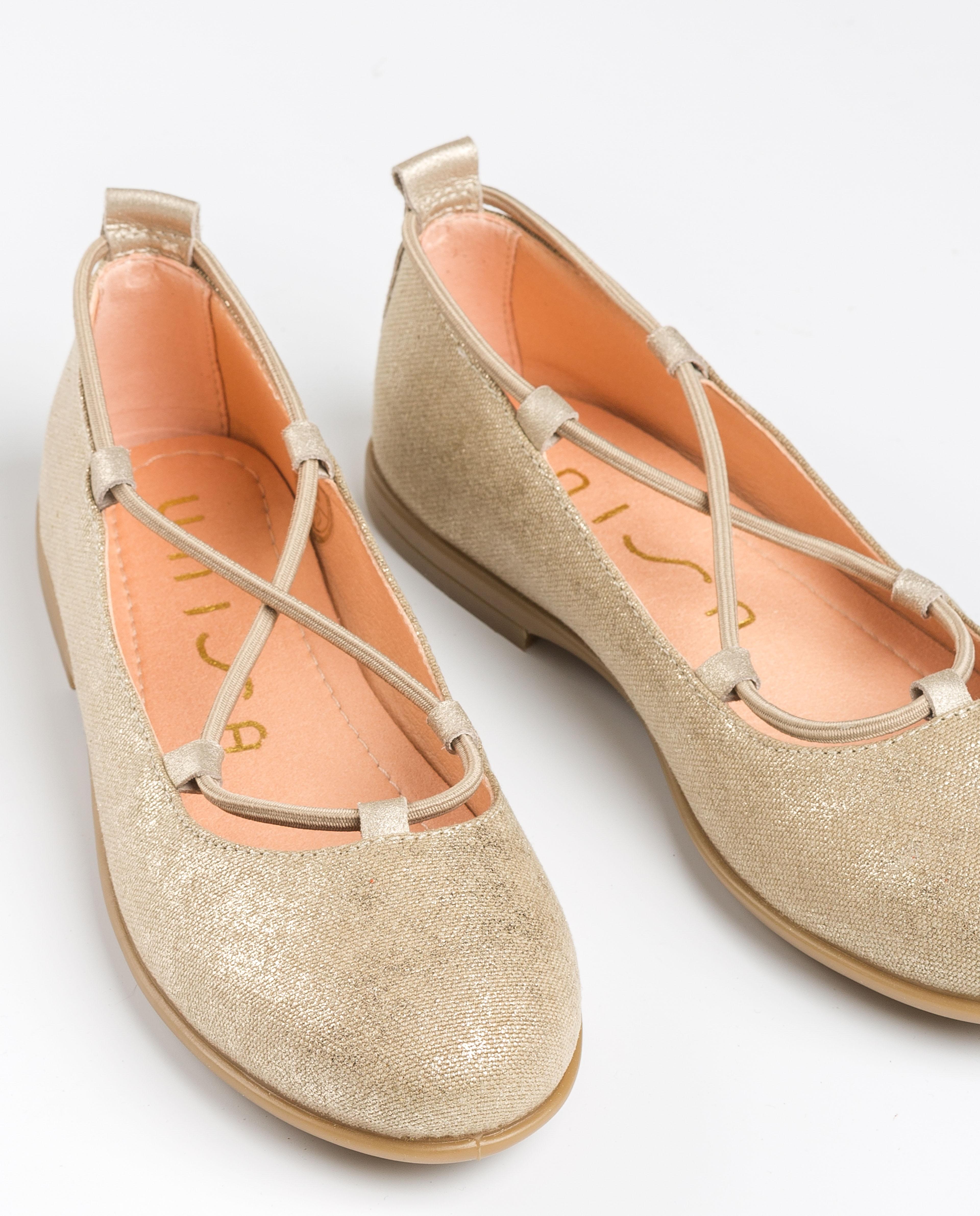 UNISA golden ballerinas elastics SEIMY_20_TP platino 2