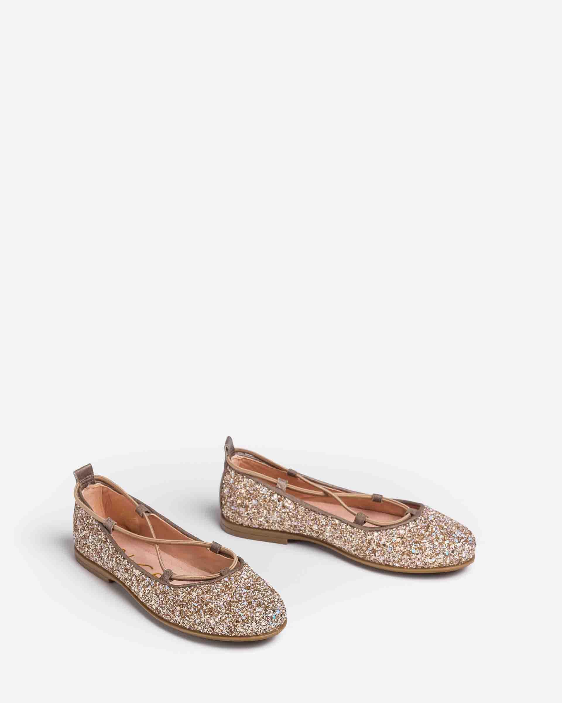 UNISA Little girl´s glitter ballerinas with crossed elastic SEIMY_21_GL 2