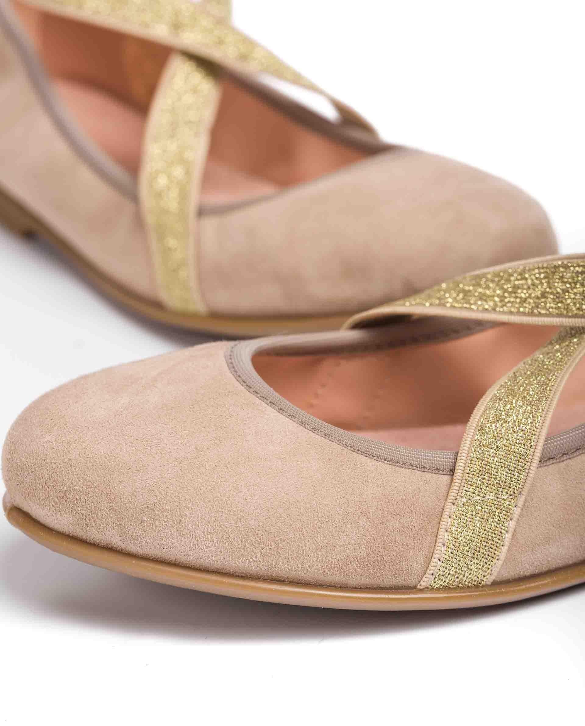 UNISA Little girl´s ballerinas kid suede elastic SILVIO_21_KS 2
