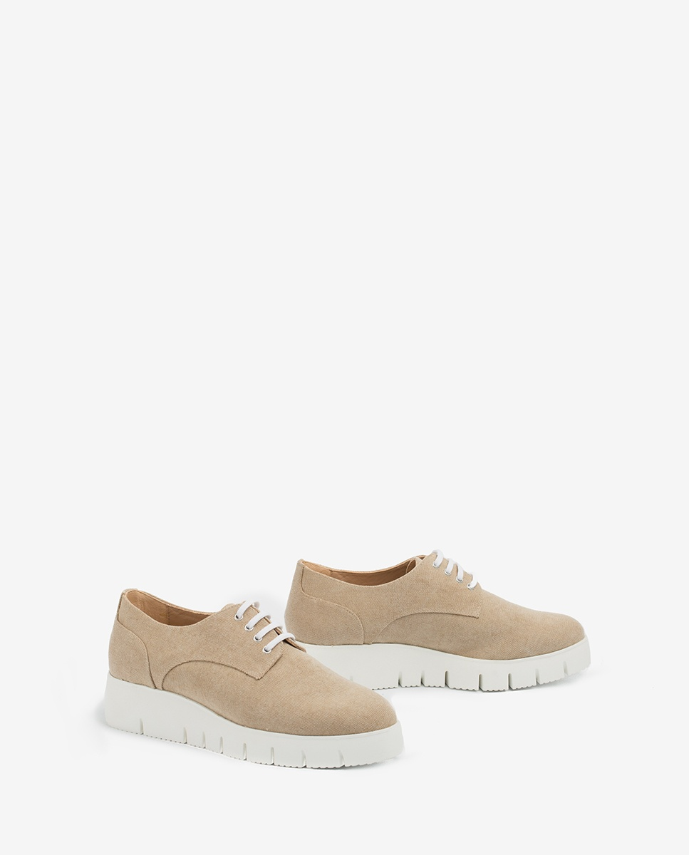 UNISA Ecolino derby shoes with platform FERRASIN_ECL natural 2