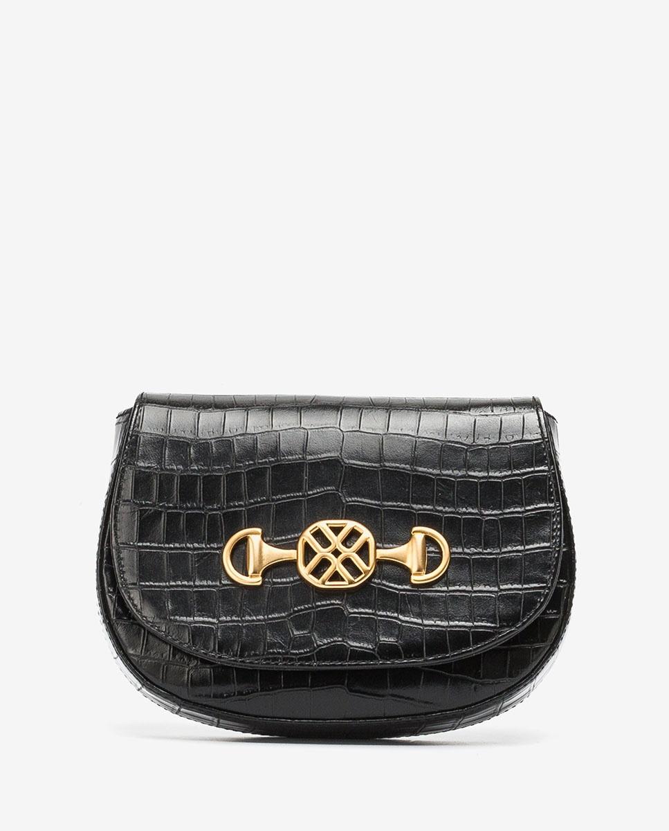 UNISA Croc effect handbag ZACOTA_LAU black 2