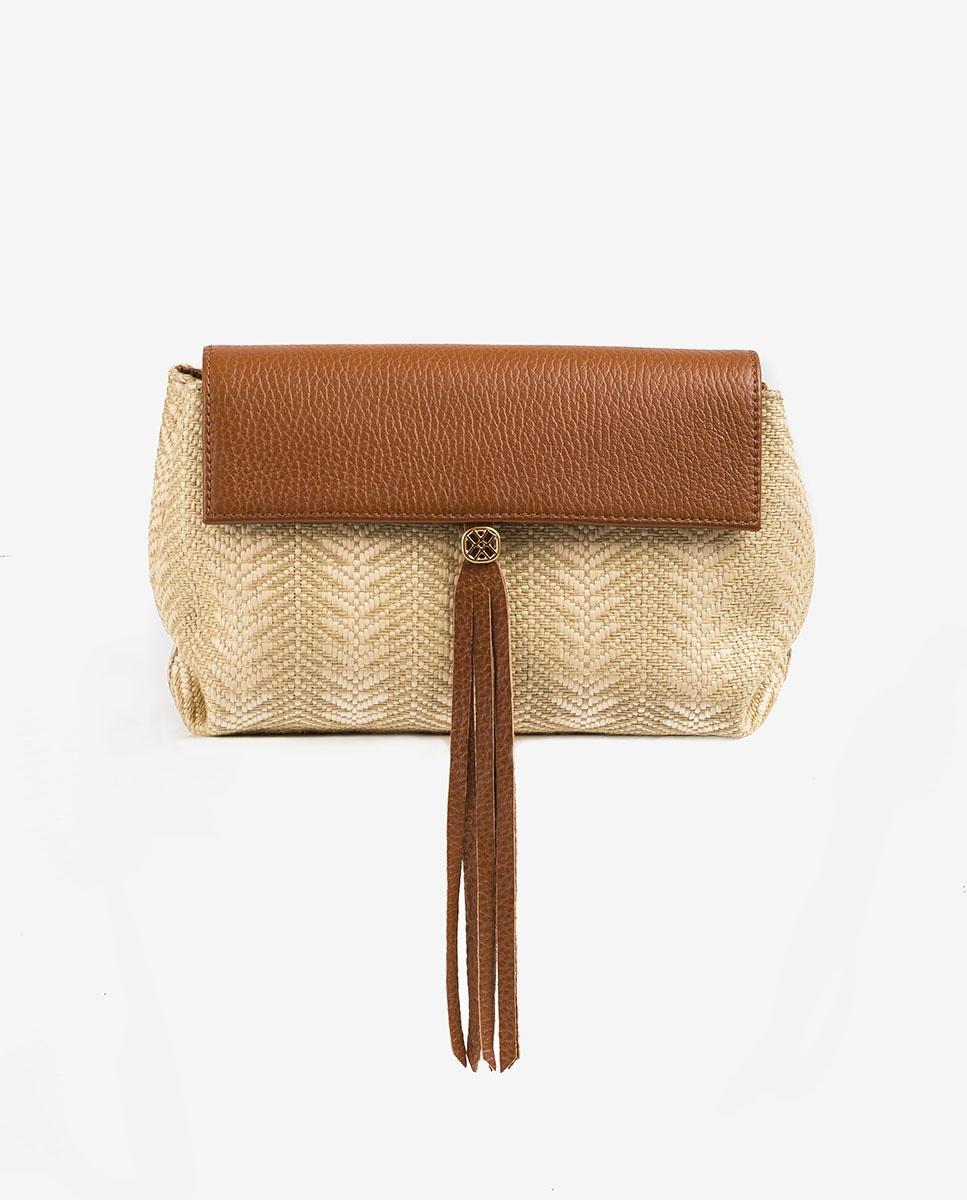 UNISA Natural mini shoulder bag ZALESKA_MM_SKE saddle/nat 2