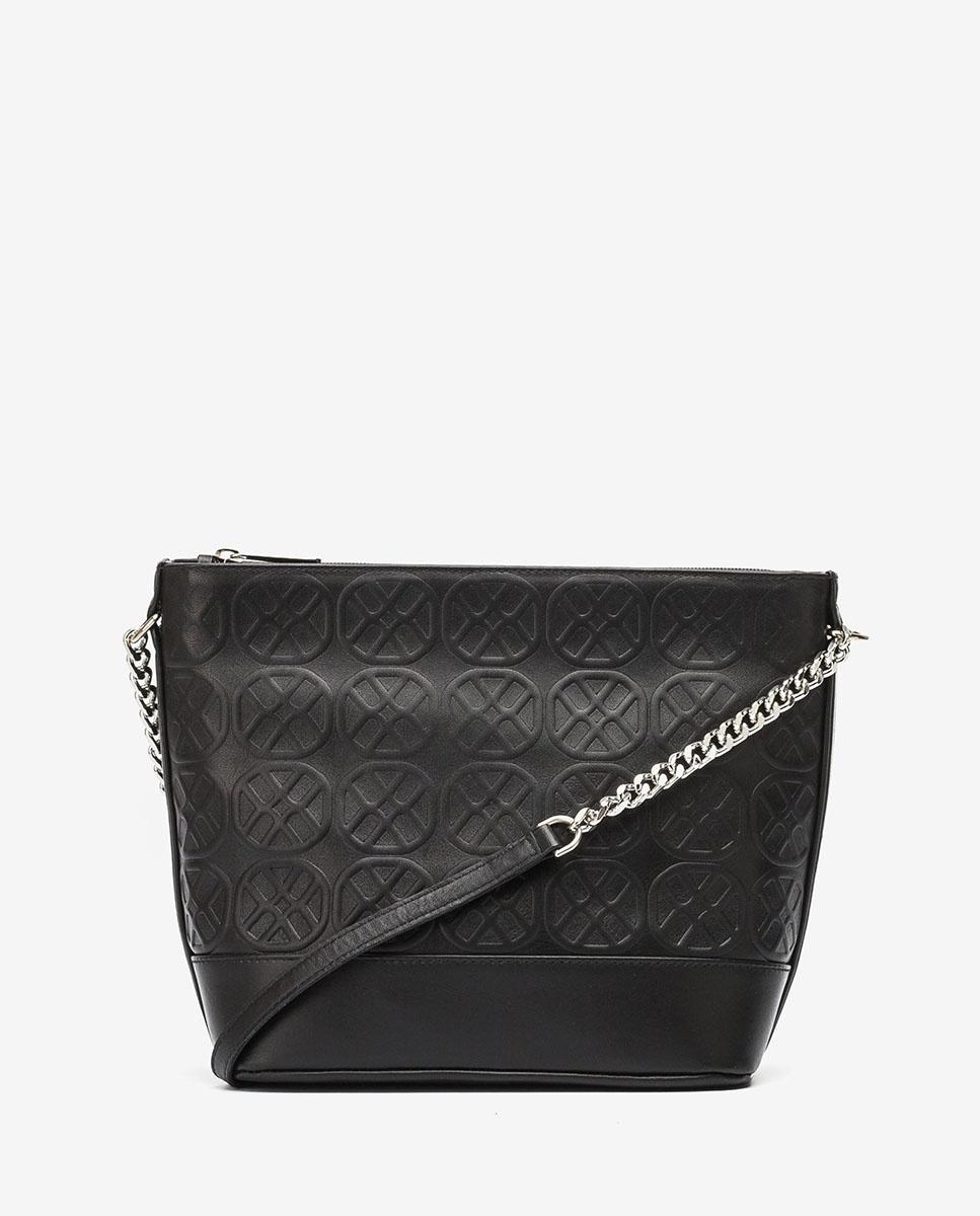 UNISA Monogram leather handbag ZDOR_NT black 2