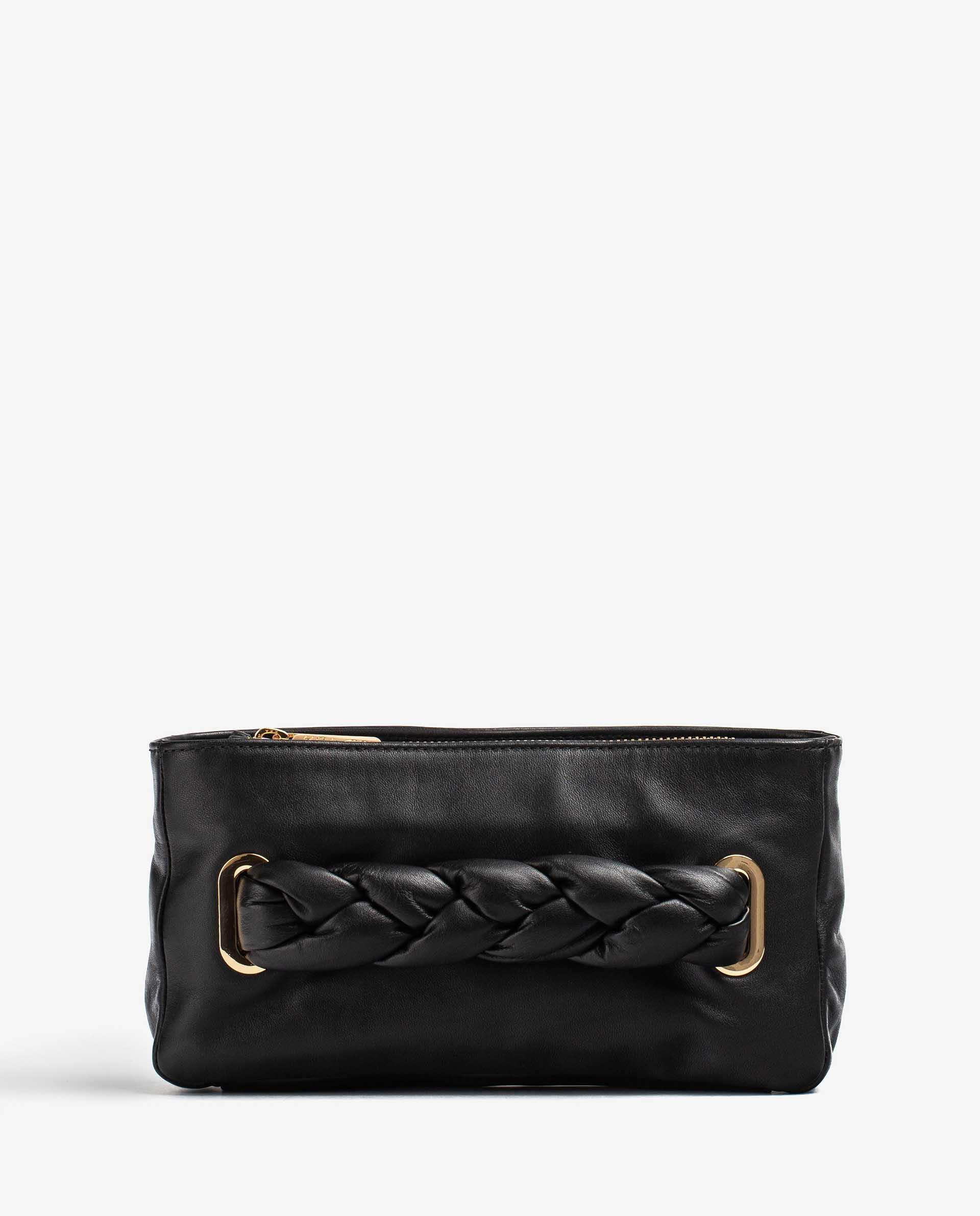 UNISA Padded braided handle-detail handbag ZFORIS_NT 2