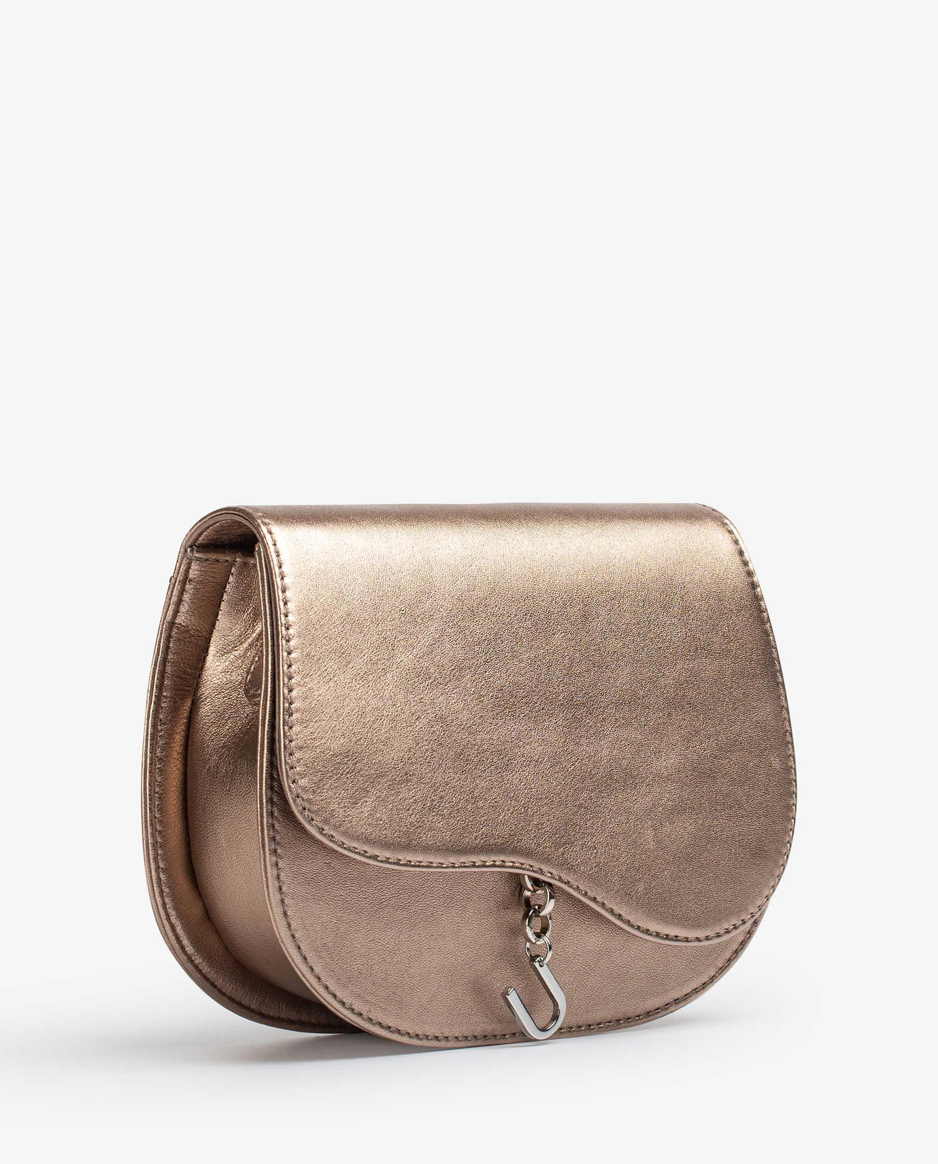 UNISA Metal effect leather bag with