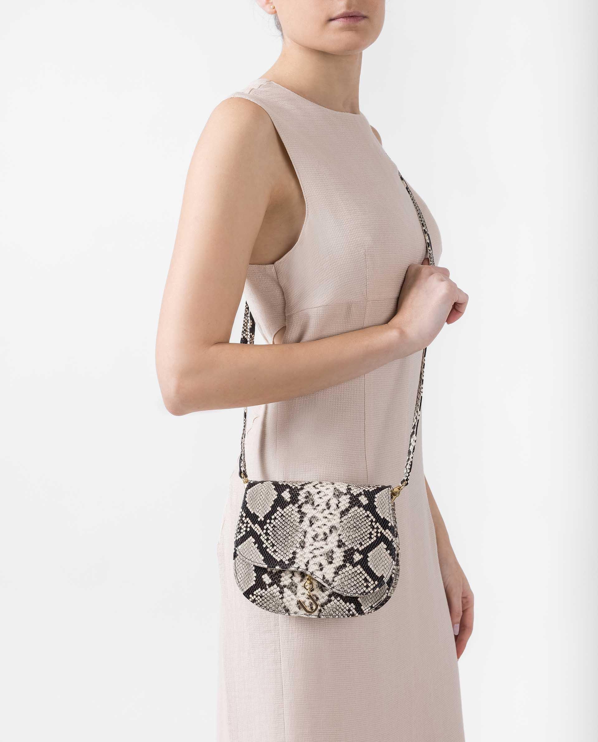 UNISA Snake leather effect handbag ZANIEL_VIP 2