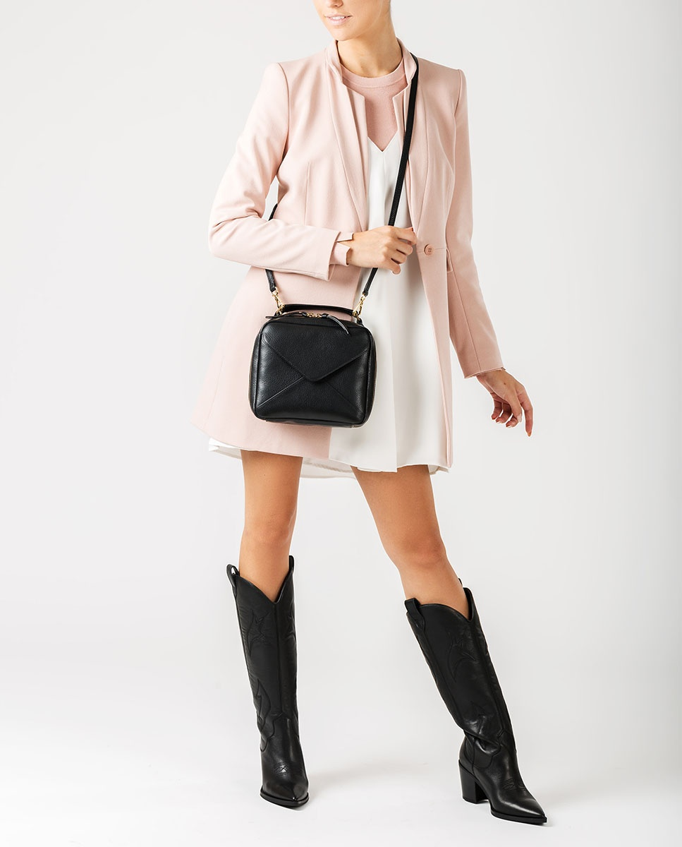UNISA Small box type handbag ZETICO_MM black 2
