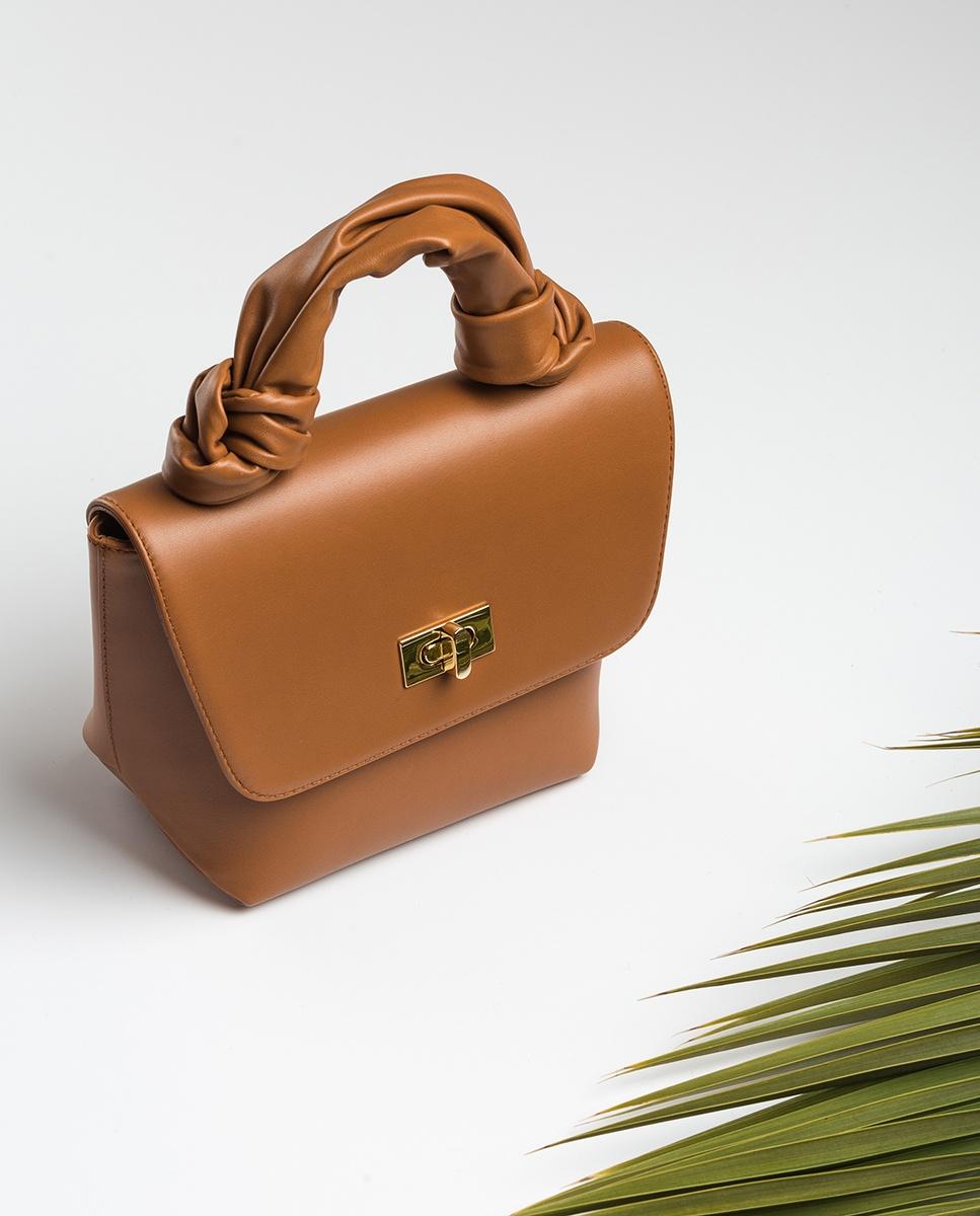 UNISA Tubular handle handbag ZFERON_NT bisquit 2