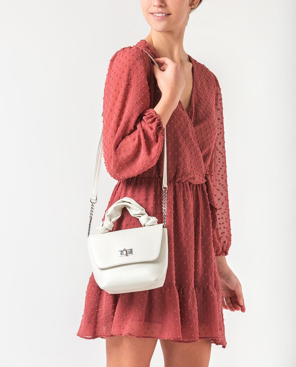 UNISA Tubular handle handbag ZFERON_NT ivory 2