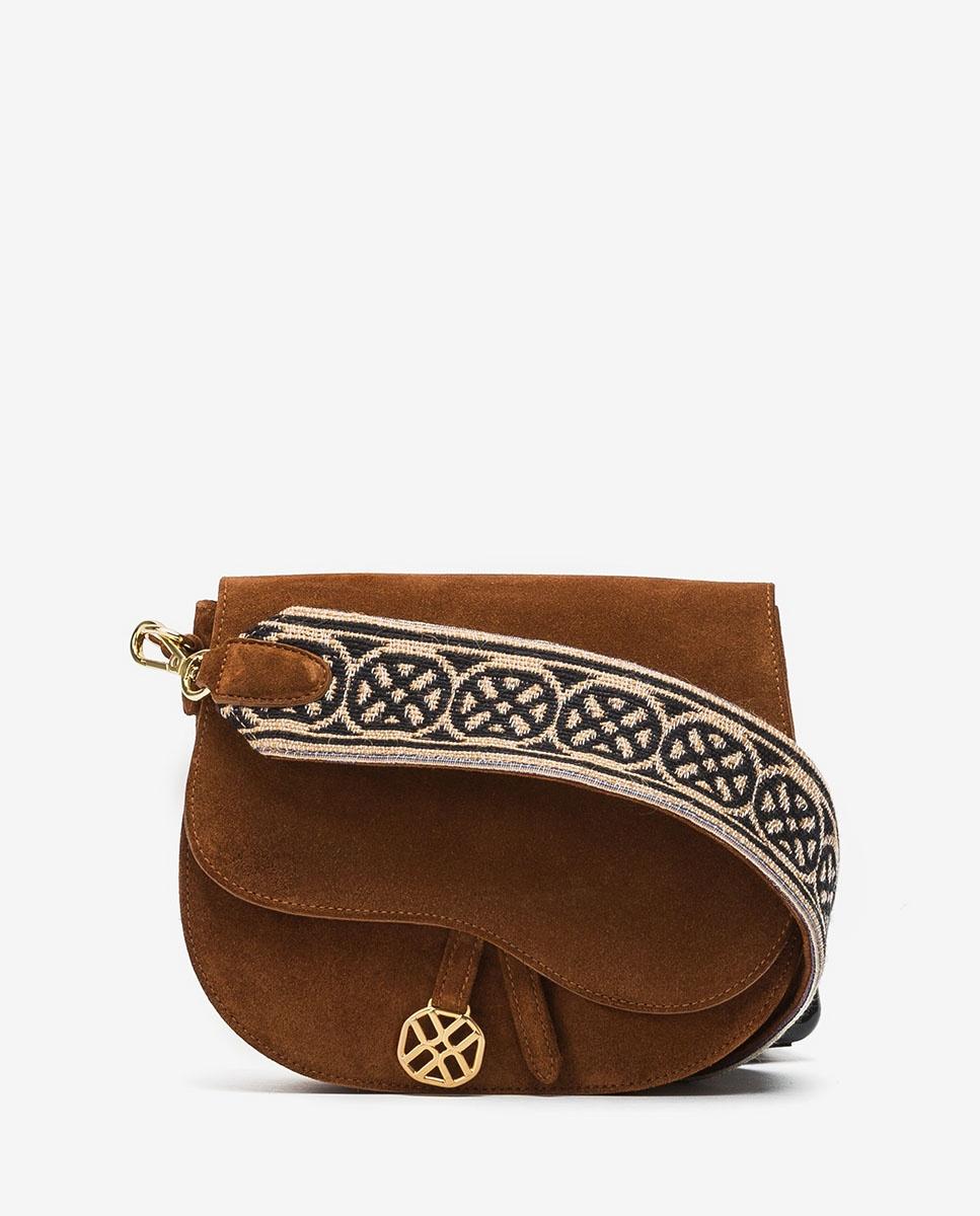 UNISA Kid suede handbag with Unisa logo shoulder strap ZFUSO_BS_MON wonka 2