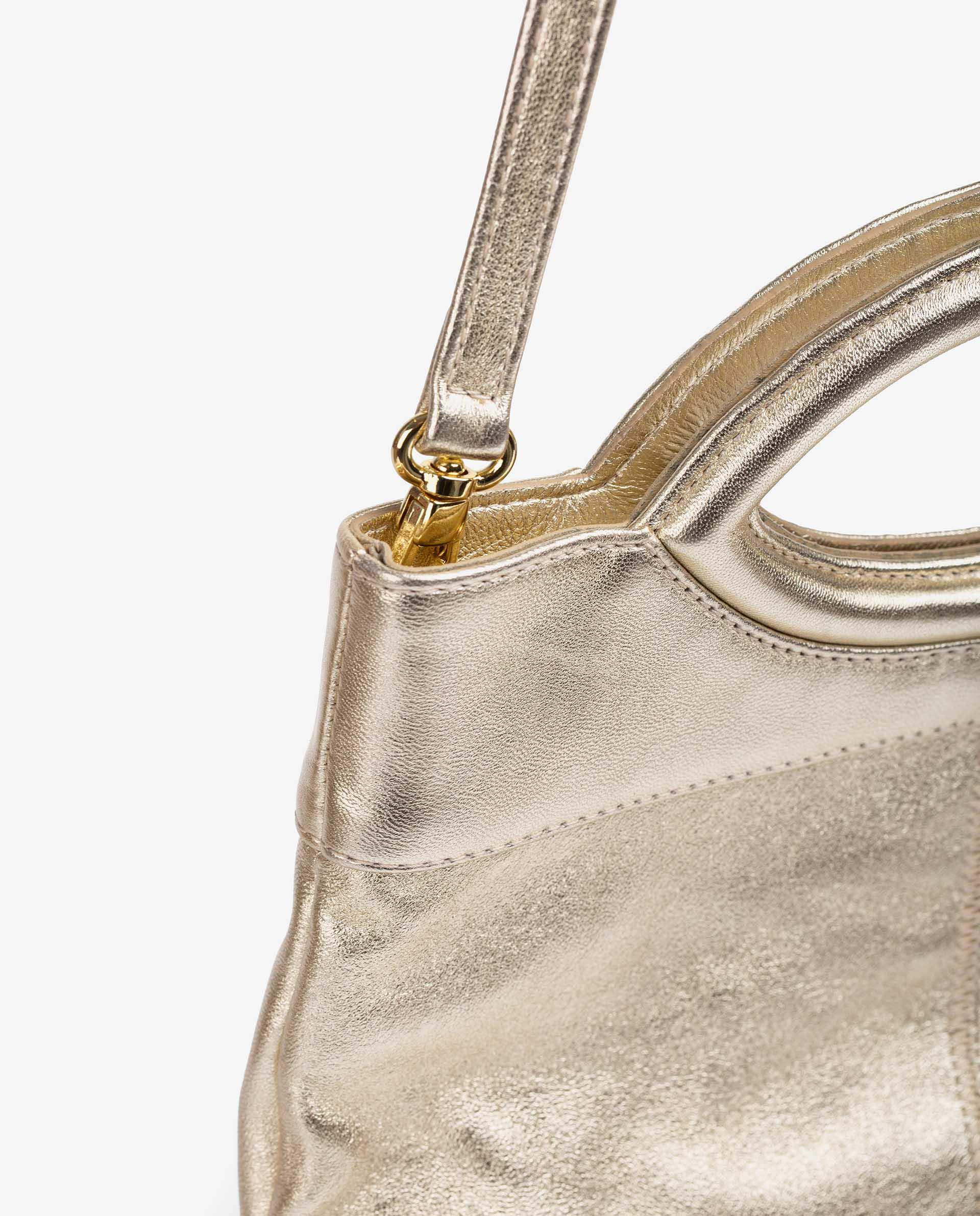 UNISA Metal effect leather bag and folded flap ZGALATE_LMT 2