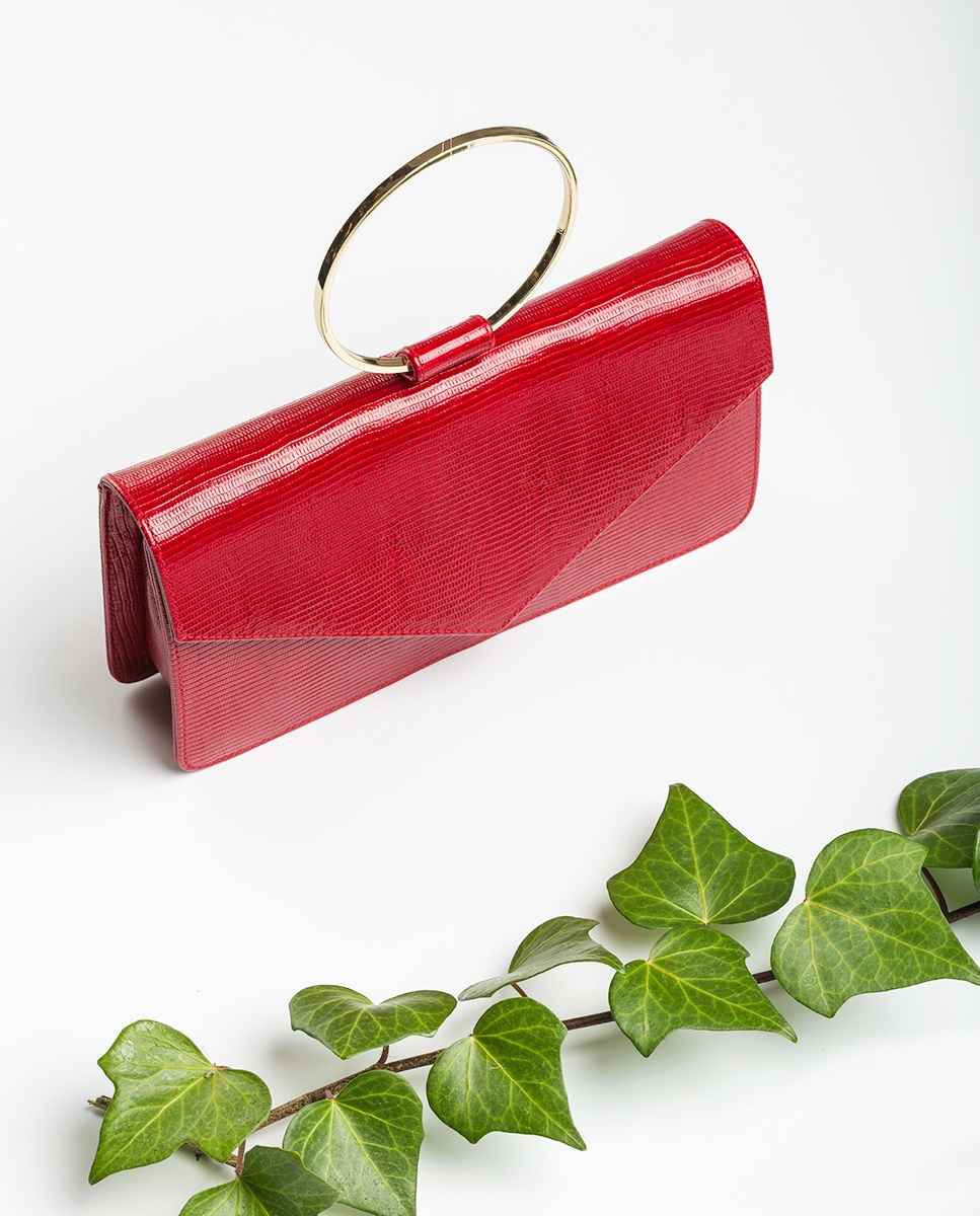 UNISA Metallic handle handbag ZGRANA_LI cuore 2