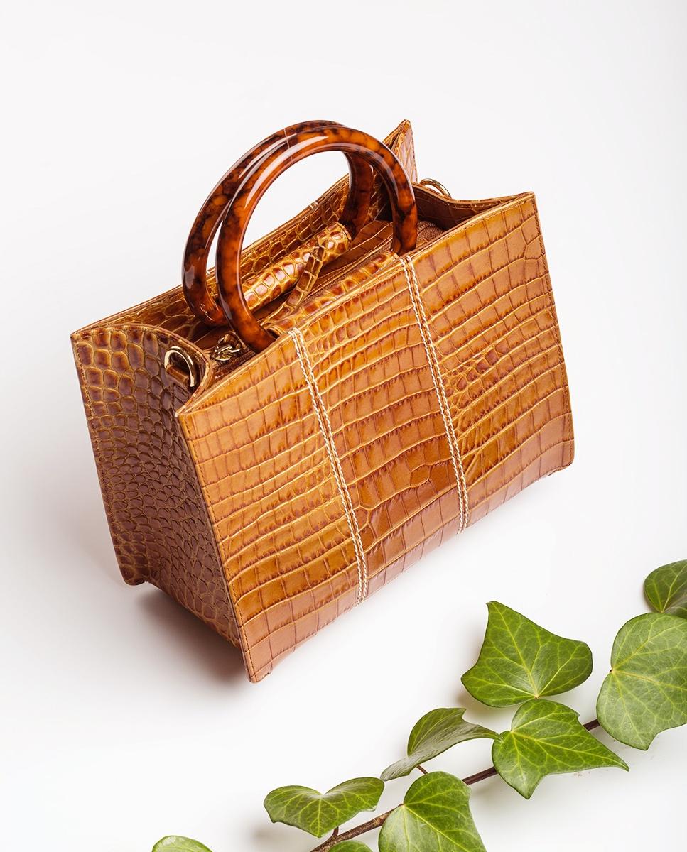 UNISA Croc handbag ZKAISSY_CRW bisquit 2