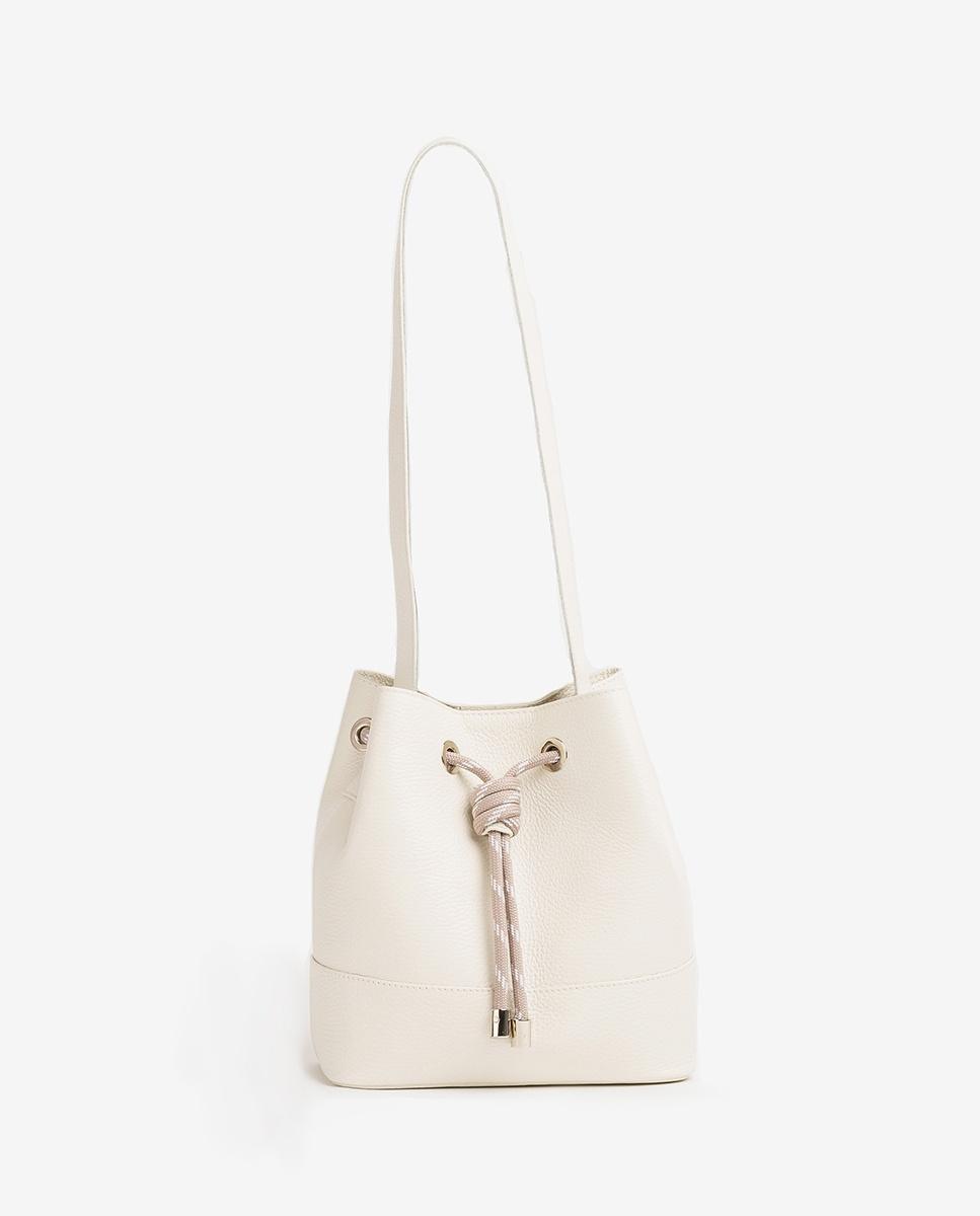 UNISA Leather bucket bag ZMALIKA_MM ivory 2