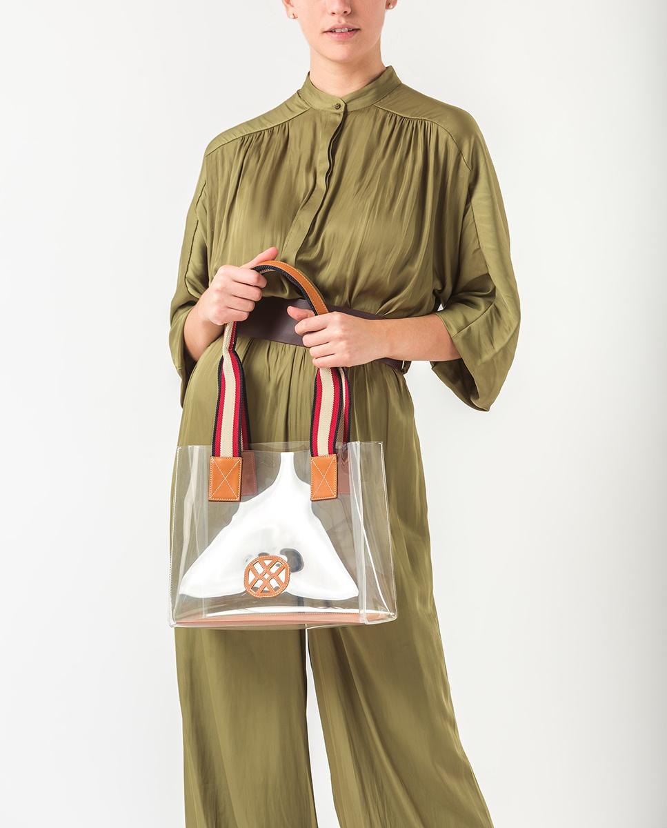 UNISA Monogram vynil handbag ZOIL_CAN_VIN trans/navy 2