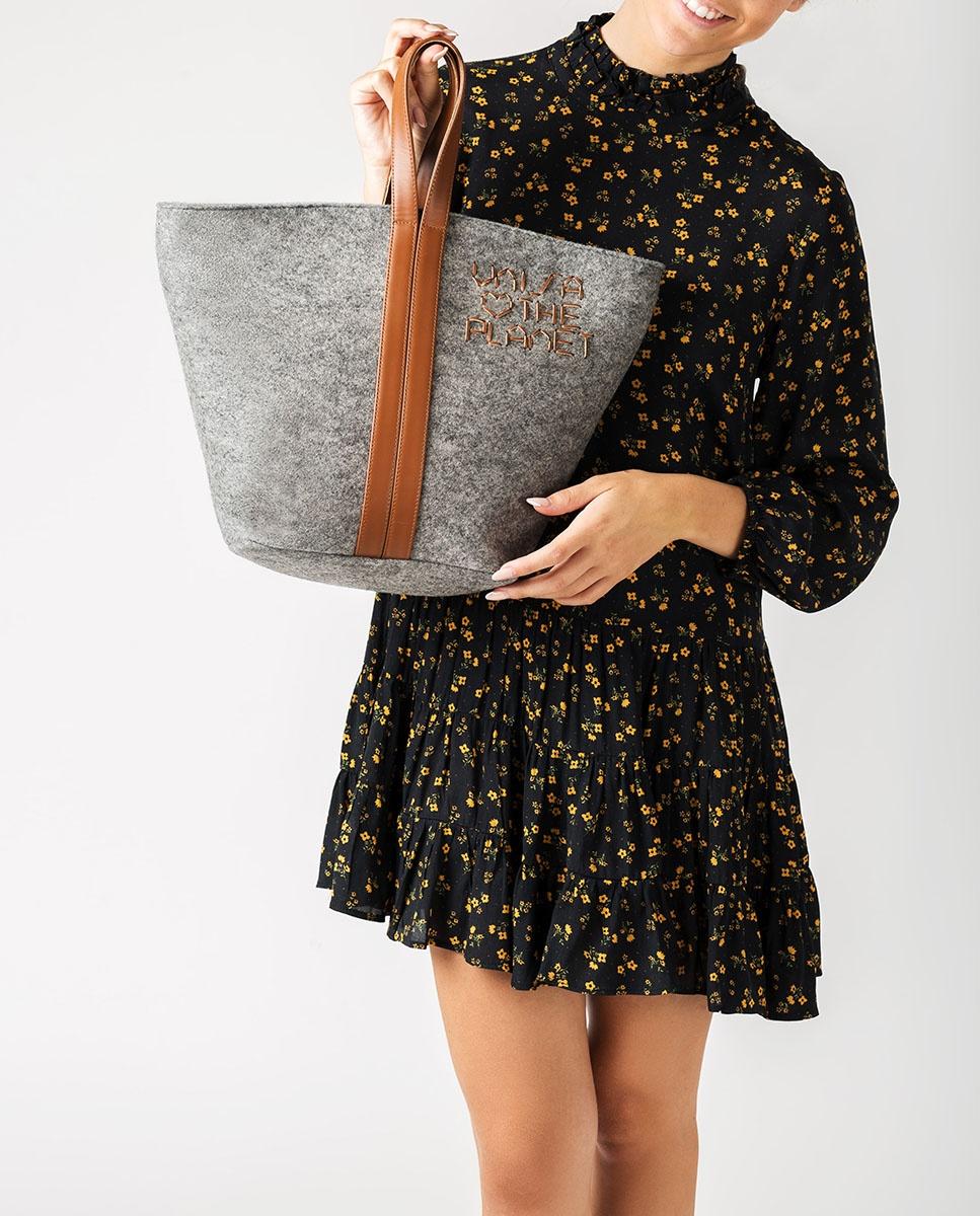 UNISA Sac shopper ecowool  ZPATY_EW_CAN grigi/sadd 2