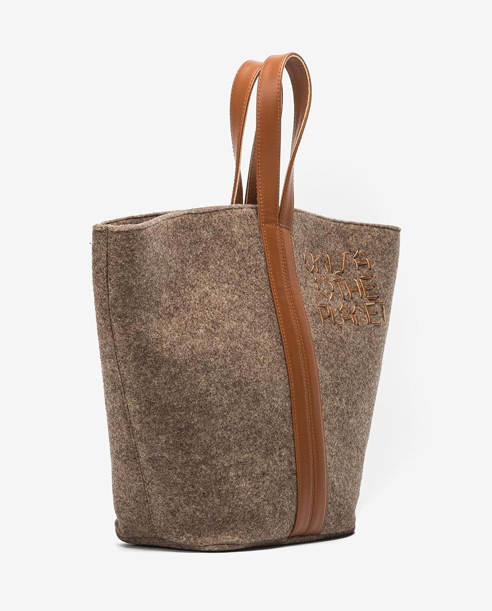 UNISA Sac shopper ecowool  ZPATY_EW_CAN natu/sadd 2