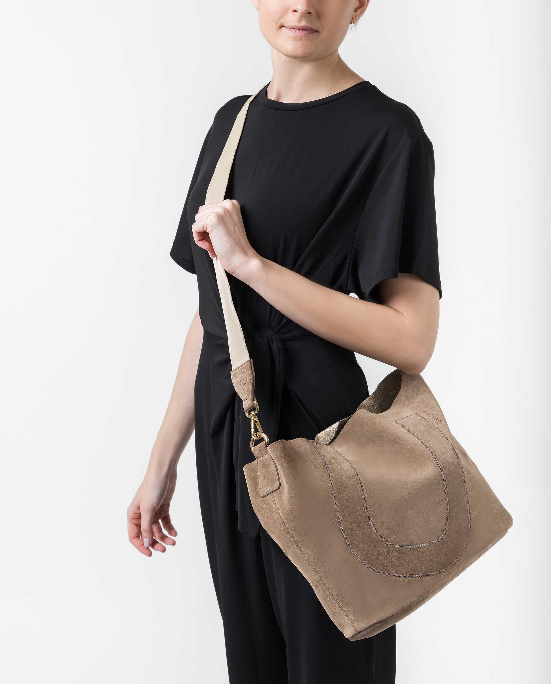 UNISA Kid suede shopper bag ZUNI_BM_BS 2
