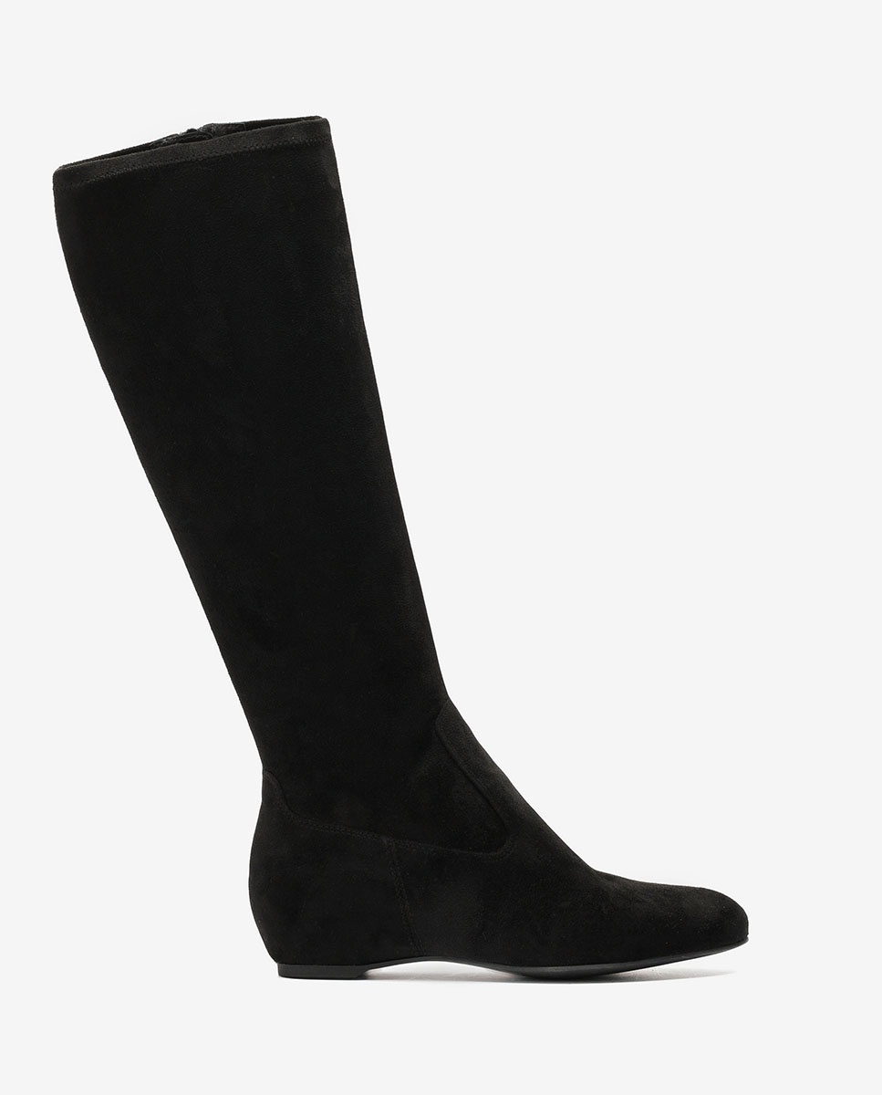 UNISA Black boots inner wedge CONTACT_ST black 2