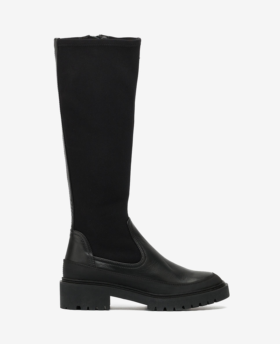 UNISA Contrast elastic track boots GUIMPU_NF_SCU black 2