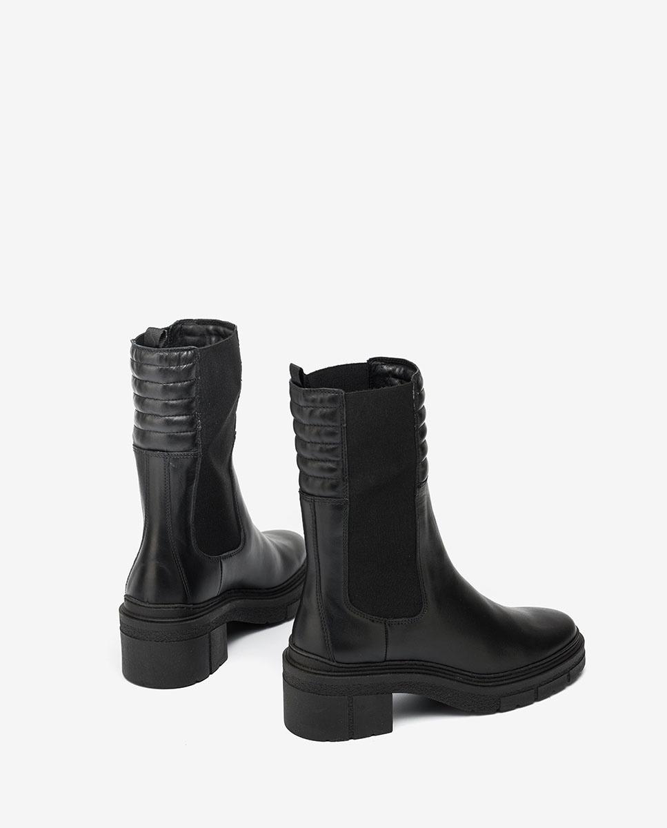 UNISA Black boots with padded shaft JINA_NF black 2