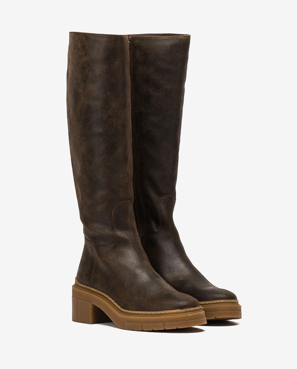 UNISA Brown boots track sole JOSUA_AV fondant 2