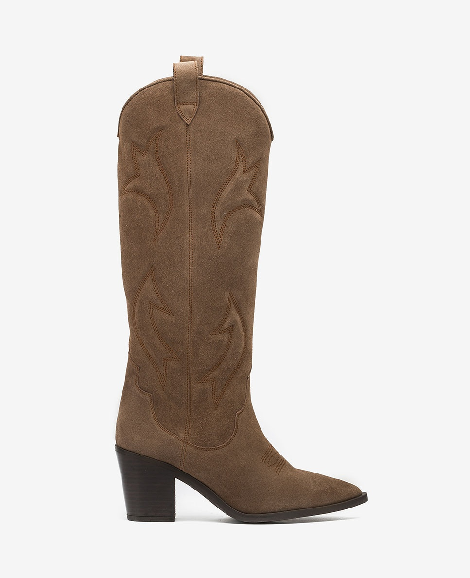 UNISA Embroidery Cowboy boots MIRABEL_BS taupe 2
