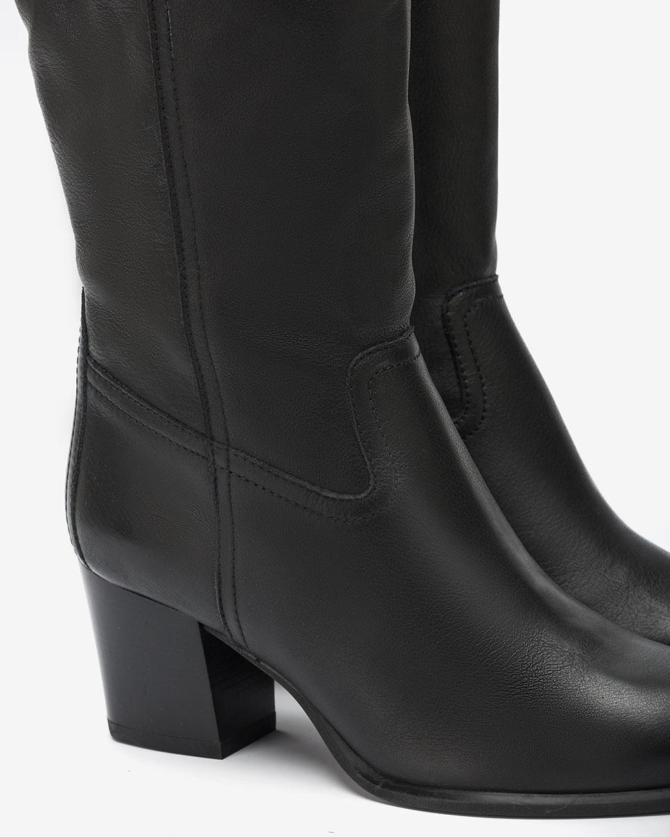 UNISA Leather heeled boots MONES_CRE black 2