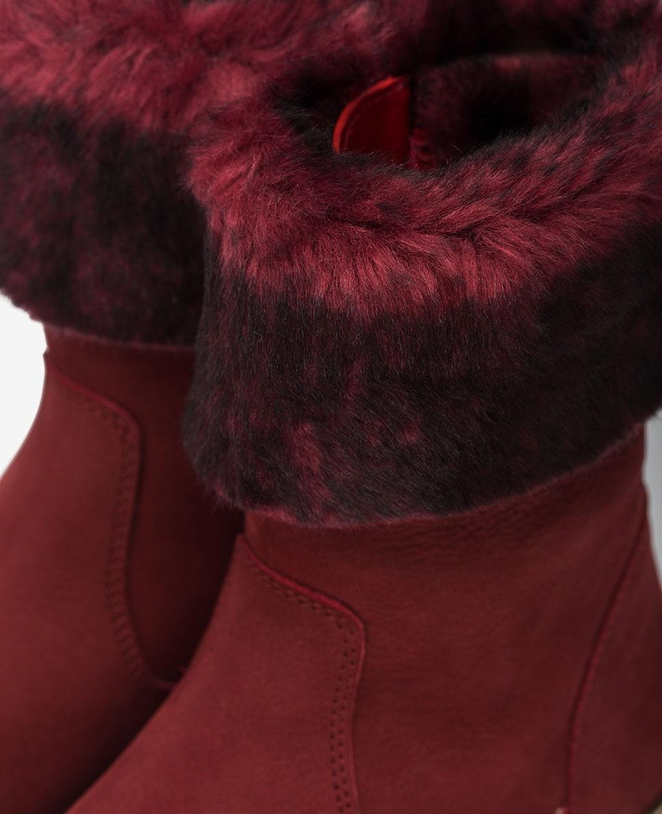UNISA Garnet booties with faux fur collar NOSITA_F20_BLU bouquet 2
