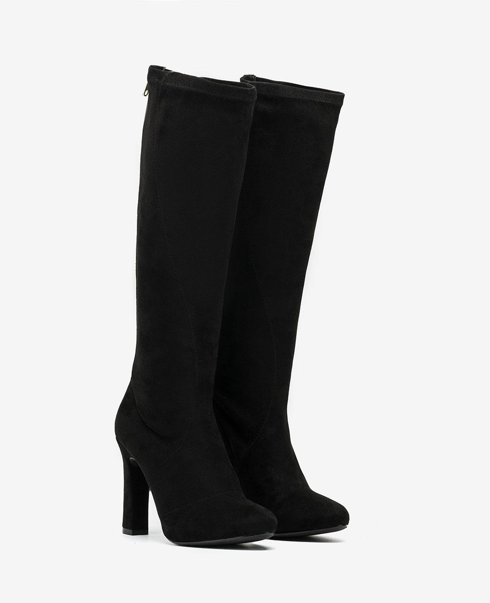 UNISA Black elastic zip ankle boots PORRES_ST black 2