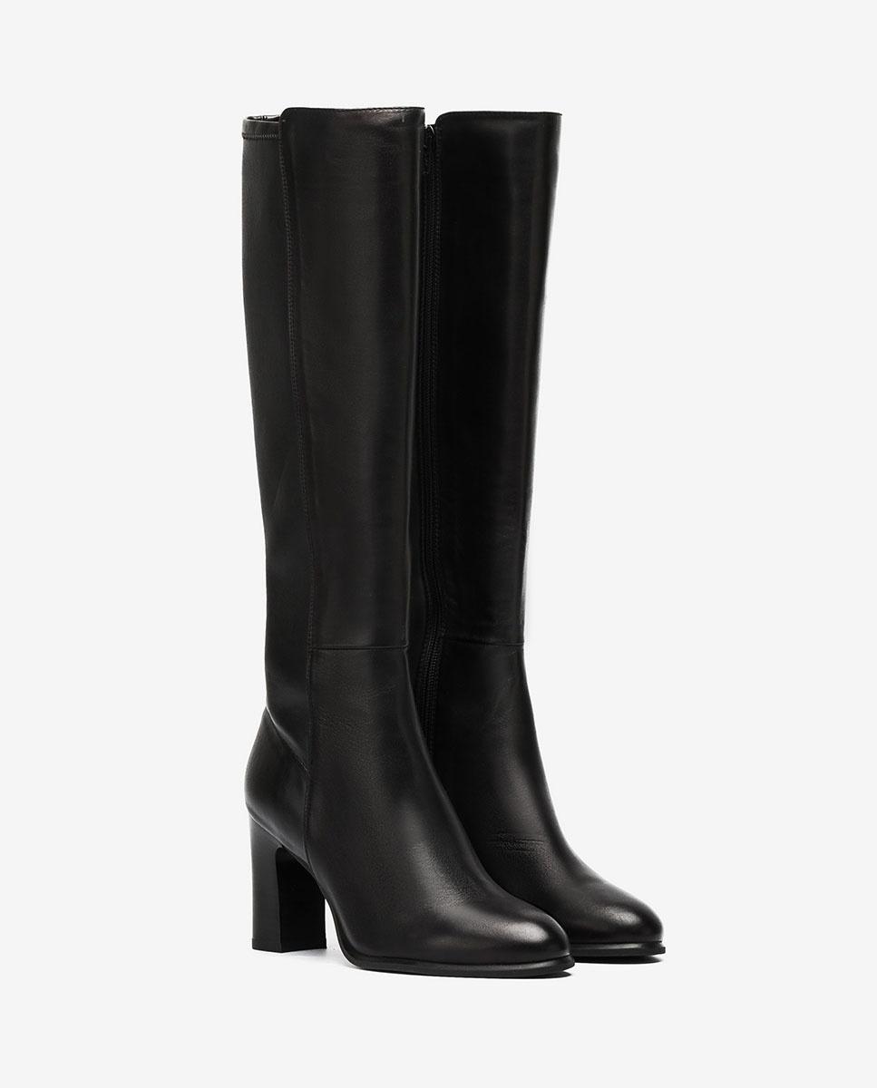 UNISA Heeled contrast boots UNITE_VU_STN black 2