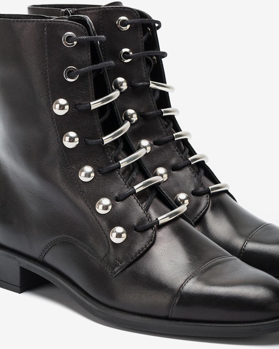 UNISA Black lace up ankle boots BARO_VU black 2