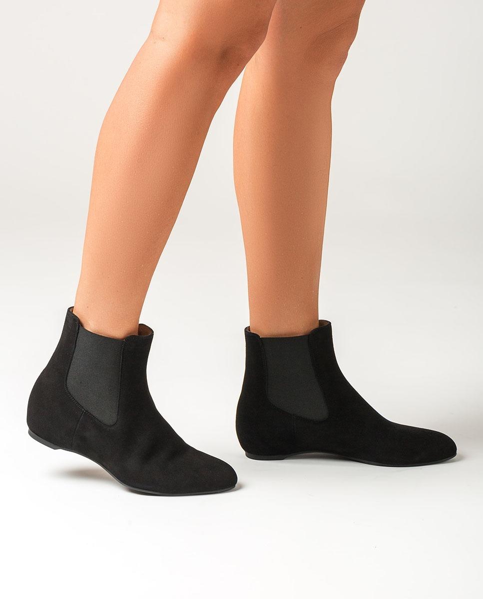 UNISA Black kid suede Chelsea ankle boots CEROME_KS black 2
