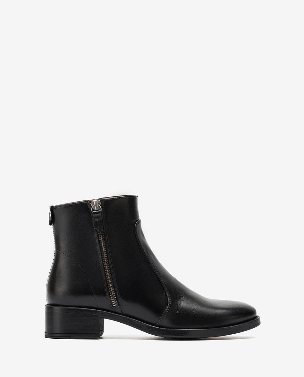 UNISA Black zip ankle boots EBRAS_NE black 2