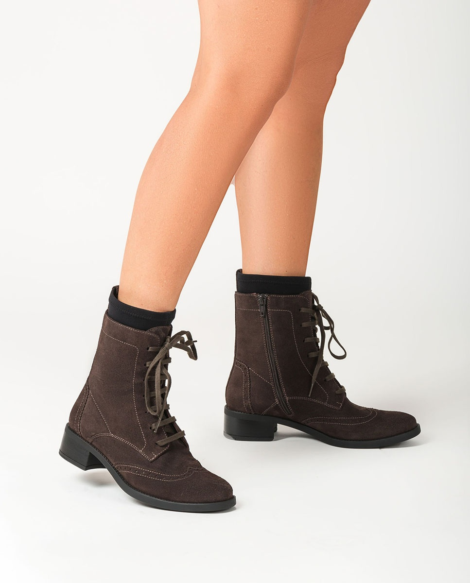 UNISA Lace up ankle boots with sock ELMER_BS rhino 2