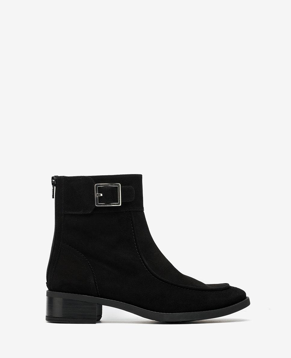 UNISA Black kid suede ankle boots ENDO_KS black 2