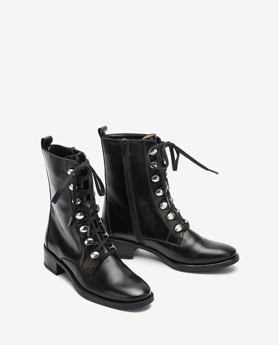 UNISA Black lace up ankle boots EUGEN_F20_NE black 2