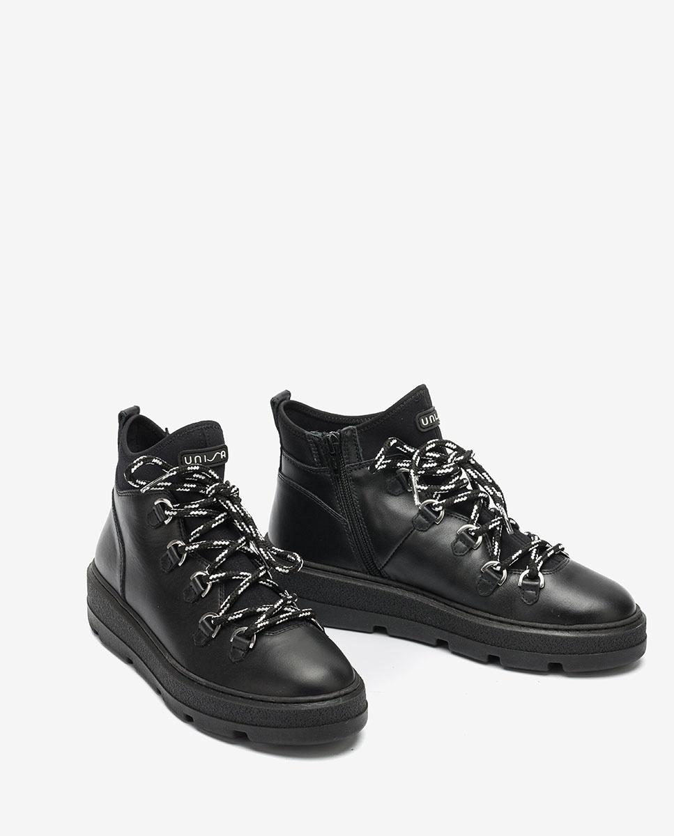 UNISA Black hiking boots for women FEISER_NF black 2
