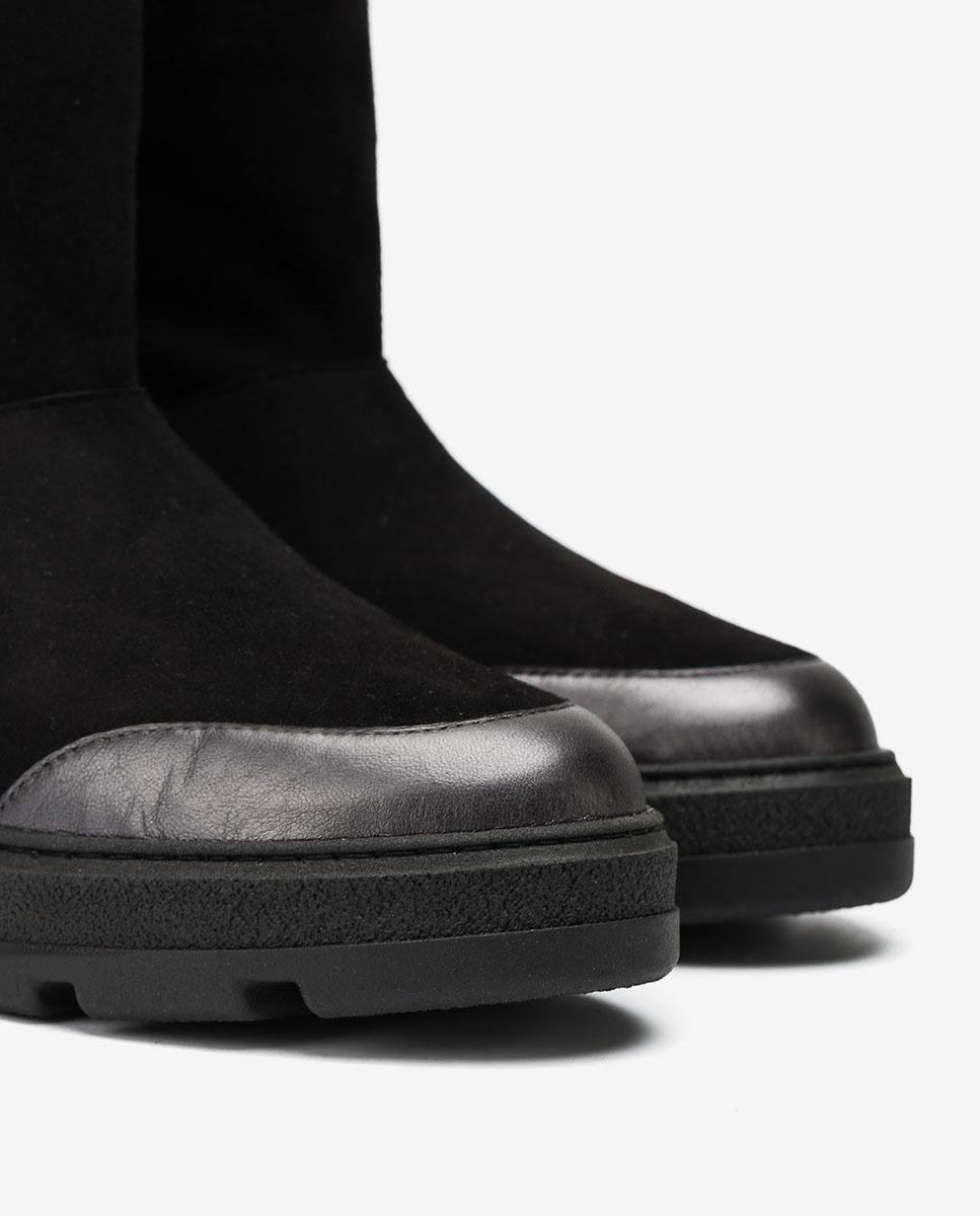UNISA Kid suede hiking ankle boots FLOU_BS black 2