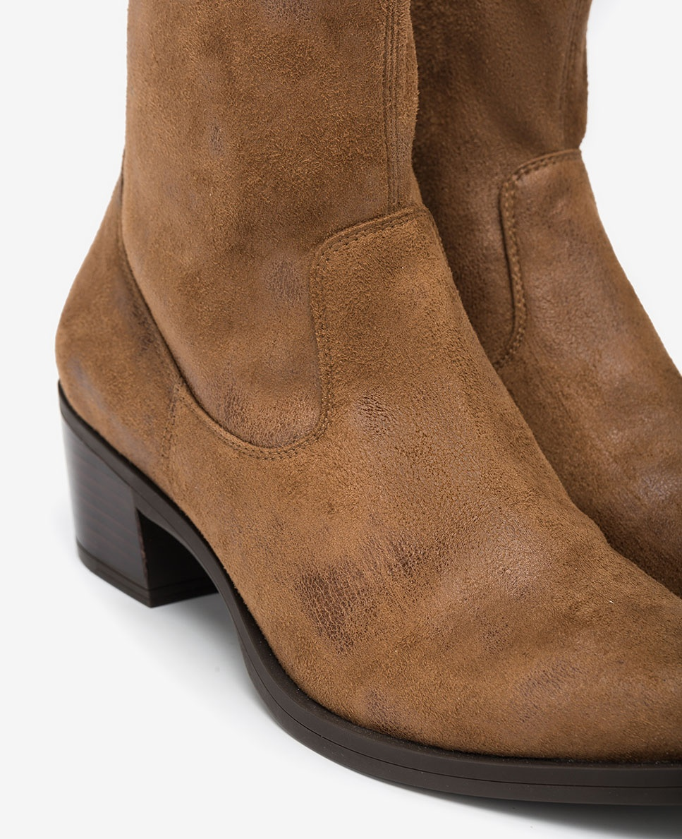 UNISA Cowboy elastic boots GARVIN_STG cumin 2