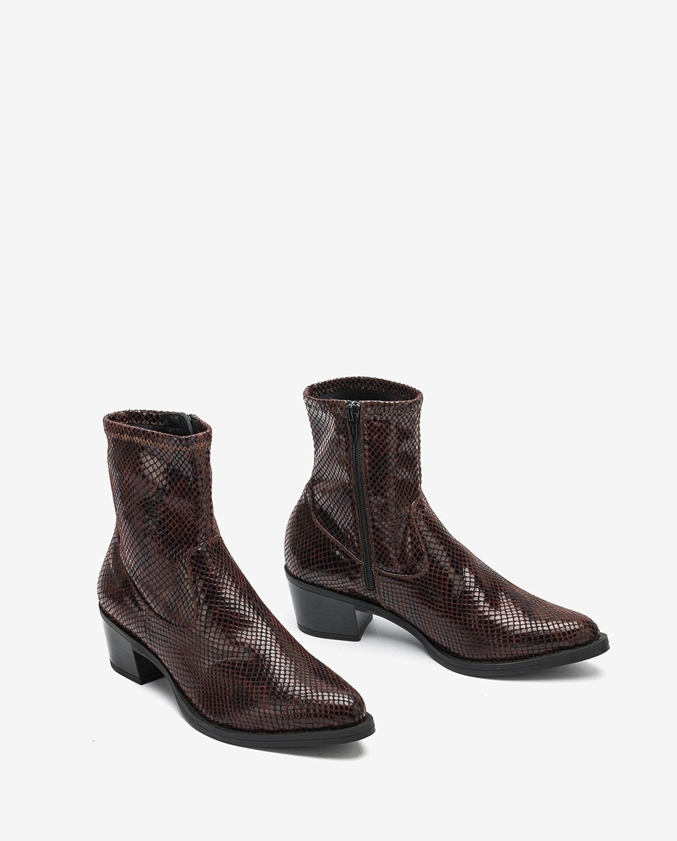 UNISA Cowboy snake elastic boots GARVIN_STPY moka 2