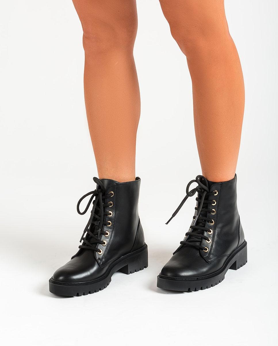 UNISA Women´s black military style ankle boots GISPER_NF black 2