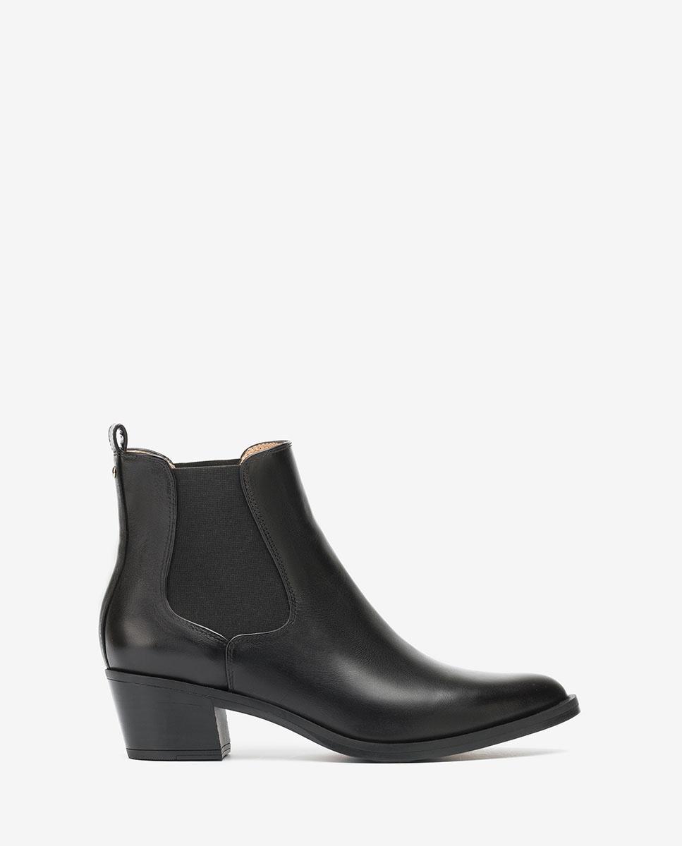 UNISA Black cowboy Chelsea ankle boots GREYSON_F20_NE black 2