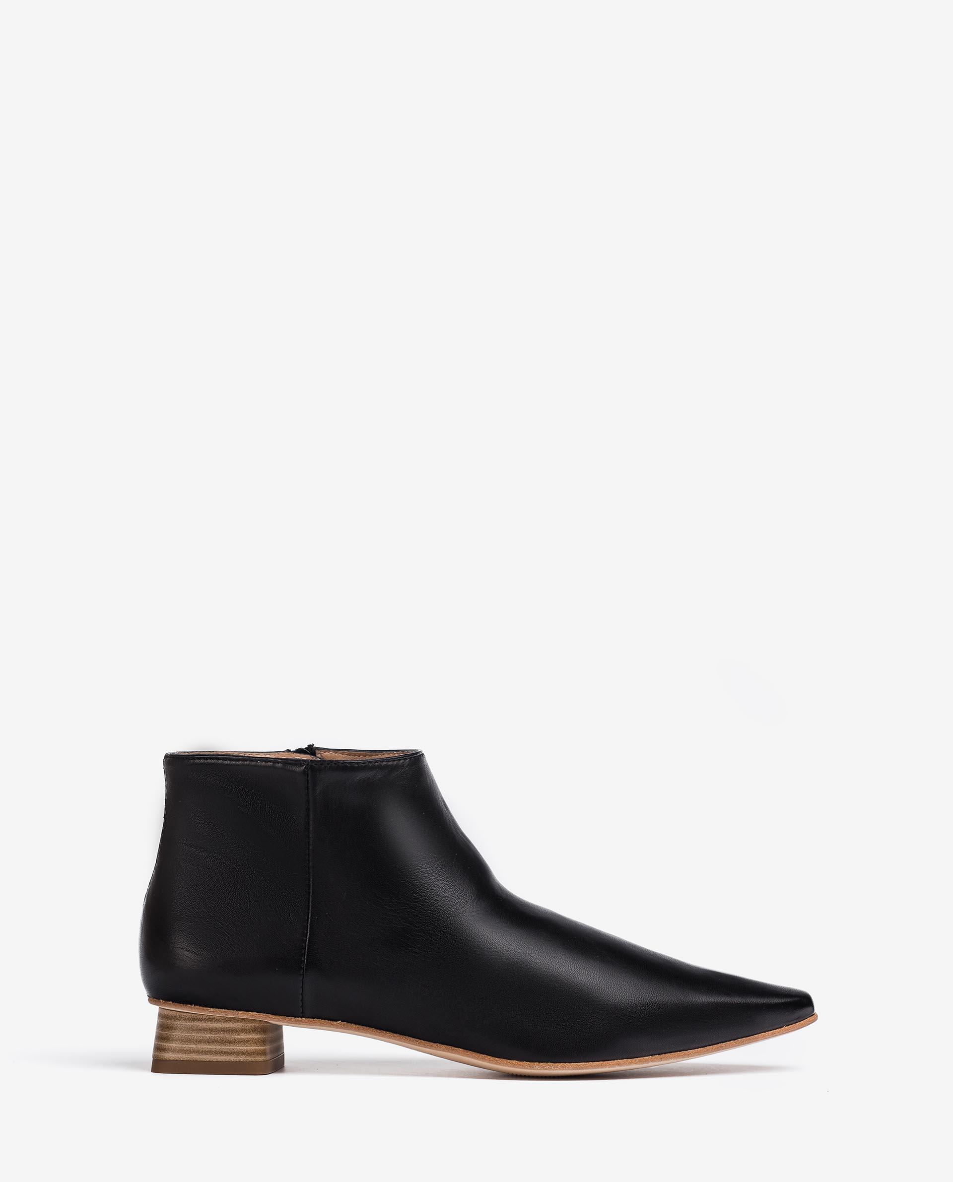 UNISA Square toe leather ankle boots GUNDA_VU 2