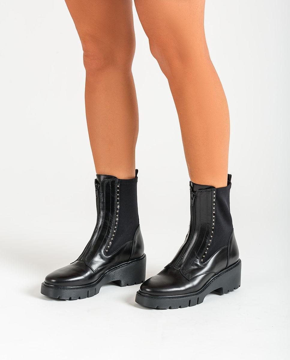 UNISA Elastic ankle boots track sole JAMU_NE black 2