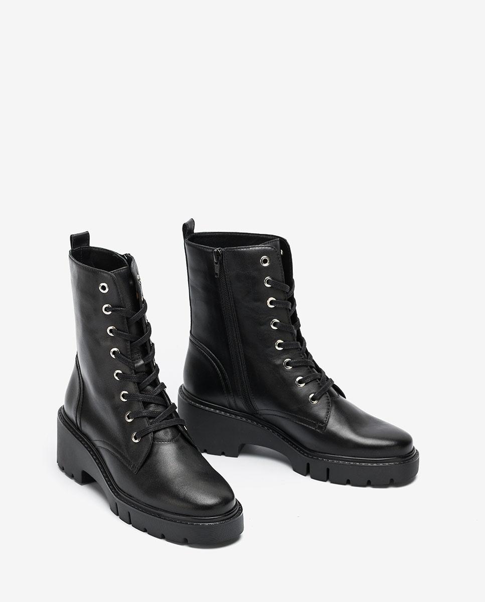 UNISA Black military style ankle boots JRISO_VU black 2