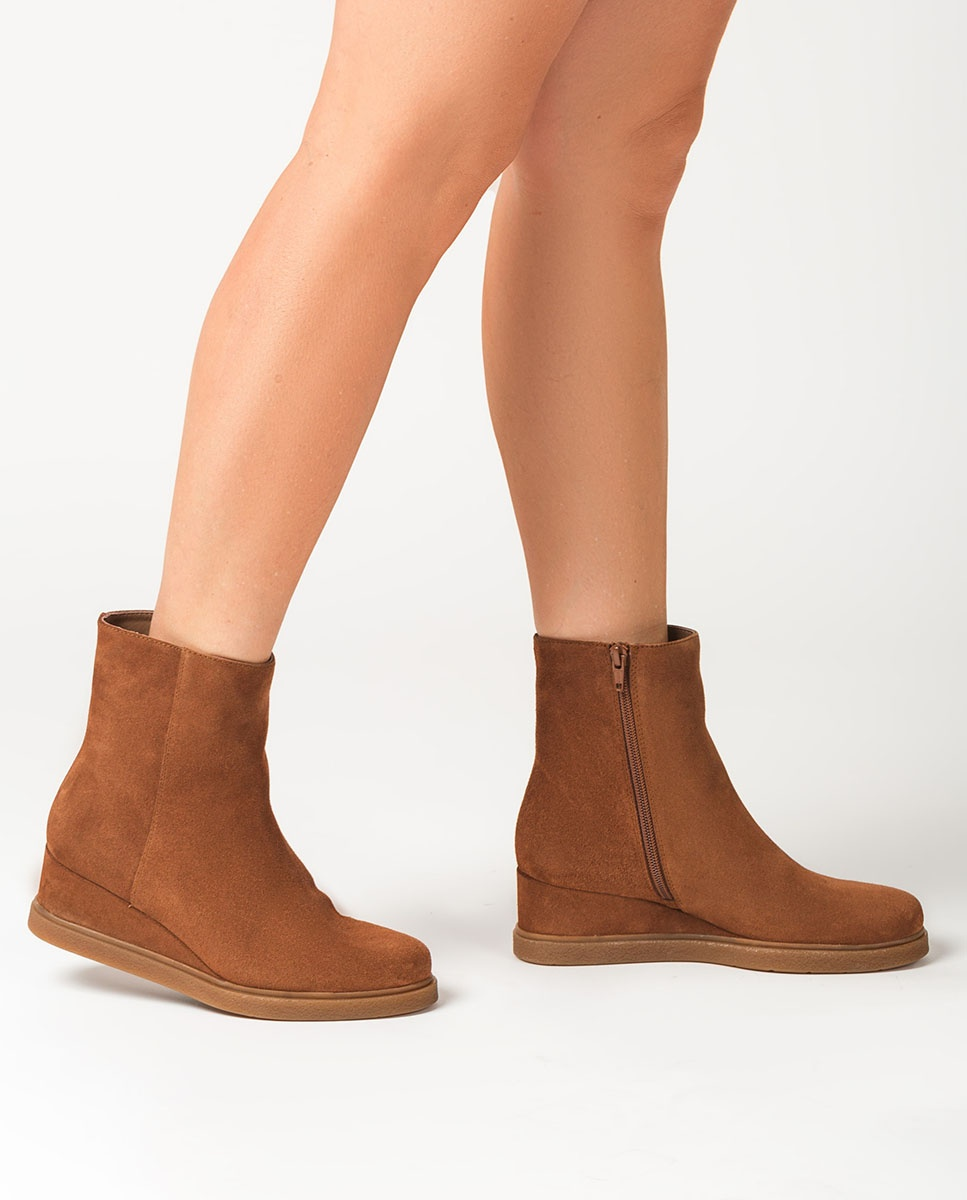 UNISA Kid suede wedge ankle boots JUSTEL_BS ecian 2