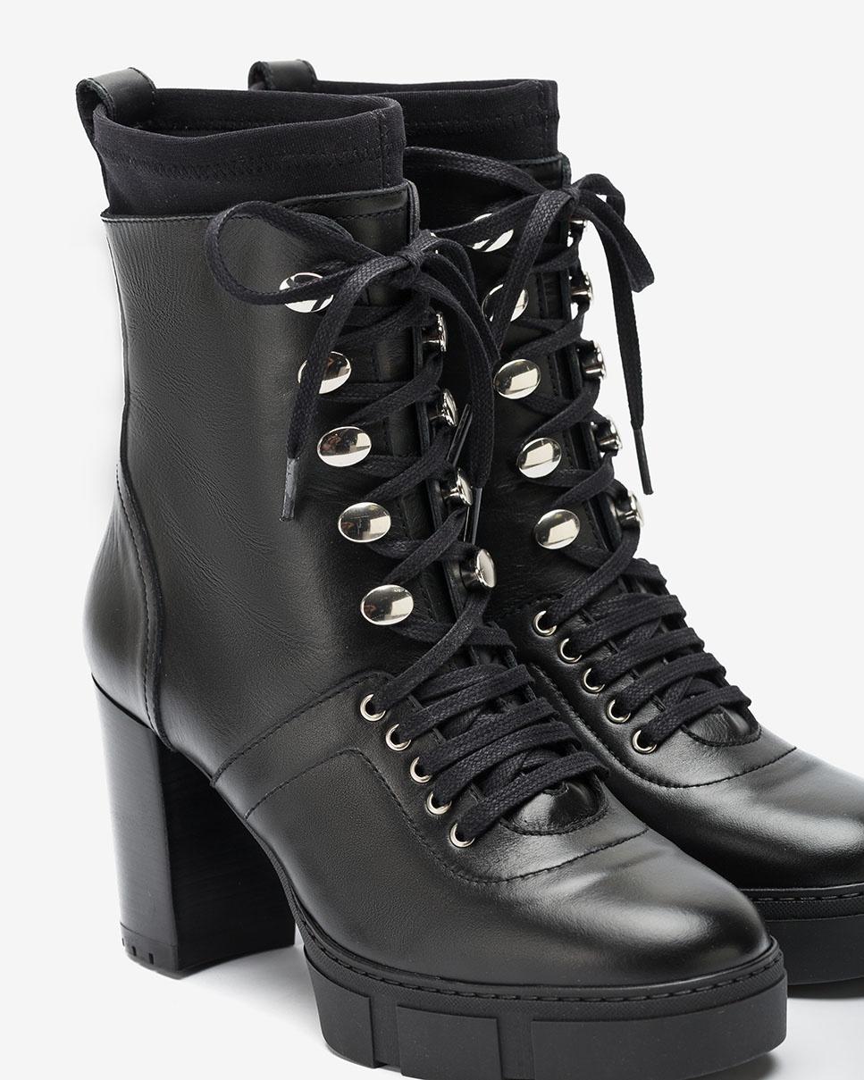 UNISA Lace up heeled ankle boots KADIR_NF black 2